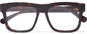 Stella McCartney D-Frame Chain-Embellished Tortoiseshell Acetate Optical Glasses