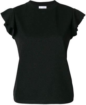 Dondup ruffled cap sleeve T-shirt