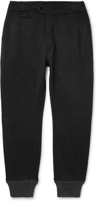 Ralph Lauren RRL Slim-Fit Fleece-Back Jersey Track Pants - Men - Black