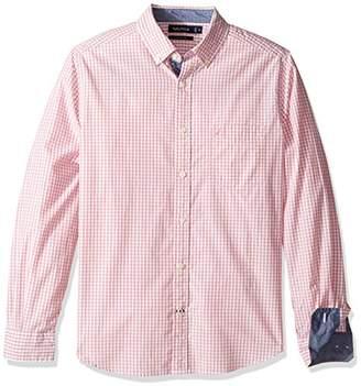 Nautica Men's Long Sleeve Gingham Plaid Button Down Shirt