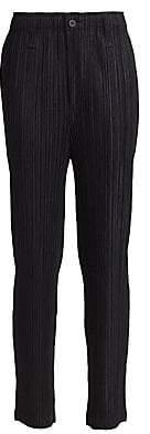 Pleats Please Issey Miyake Women's Thicker Bottoms 1 Wide-Leg Pants
