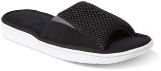 Dearfoams Men's Mixed Mesh & Gore Slide Slippers