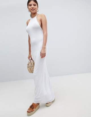 boohoo Halterneck Maxi Dress