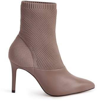 Reiss COSMOS KNITTED ANKLE BOOTS Grey