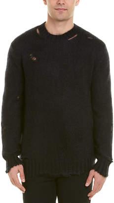 Alexander McQueen Distressed Crewneck Mohair & Silk-Blend Sweater