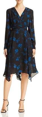 Parker Evanna Pleated Floral Print Dress