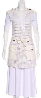 Tory Burch Crochet Belted Vest