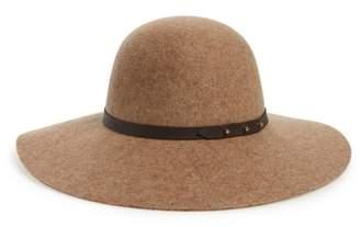Halogen Refined Wide Brim Felt Floppy Hat
