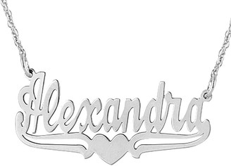 Personalized Name Plate Necklace - Sterling Silver