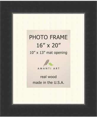 "Amanti Art Corvino Black 16"" X 20"" Matted to 10"" X 13"" Opening Wall Picture Photo Frame"