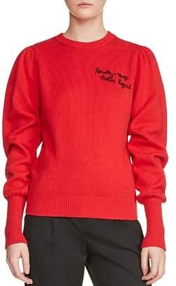Maje Maelle Bishop Sleeve Sweater