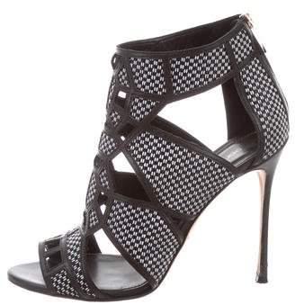 Sergio Rossi Cutout Woven Sandals