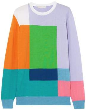 Mary Katrantzou Hartigan Color-block Wool Sweater