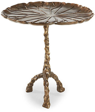 Toulouse Leaf Side Table - Antiqued Brass - Brownstone Furniture