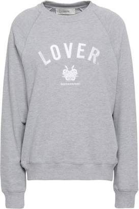 Lover Embroidered French Cotton-terry Sweatshirt