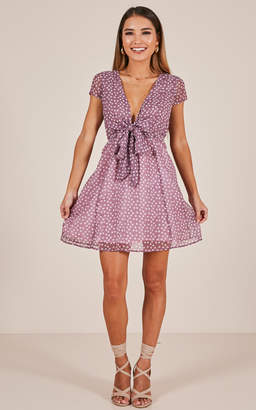 Showpo Wake Up Dreamer Dress in purple print - 20 (XXXXL) The Fall