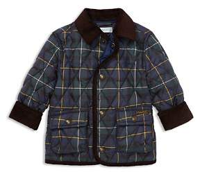 Ralph Lauren Boys' Plaid Quilted Car Coat - Baby