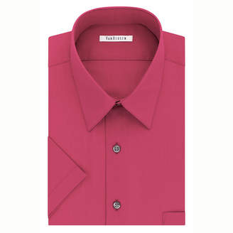 Van Heusen Easy-Care Poplin Big And Tall Short Sleeve Poplin Dress Shirt