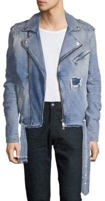 Pierre Balmain Biker Denim Jacket