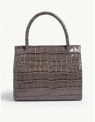 f22fc97699ef BY FAR Val croc-embossed leather tote