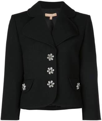 Michael Kors Bejewelled button fitted jacket