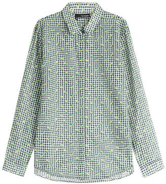 The Kooples Printed Cotton-Silk Blouse