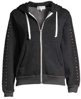 Wildfox Couture Embellished Zip-Up Hoodie