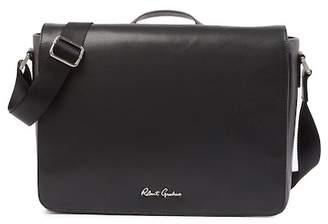 Robert Graham Mulberry Leather Messenger Bag