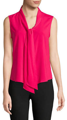 Calvin Klein Tie Neck Sleeveless Woven Top