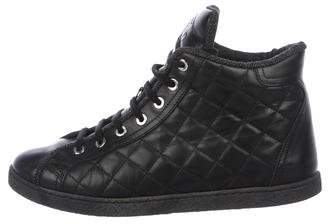 Chanel Quilted Leather Sneakers