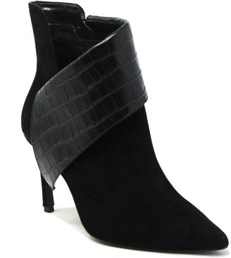 Charles by Charles David Charles David Leather Asymmetrical Booties - Deluxe