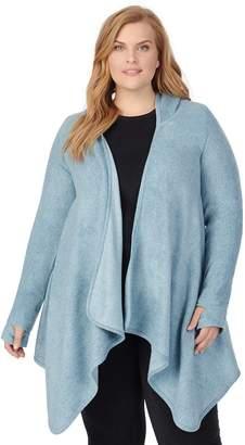 Cuddl Duds Women's Fleecewear with Stretch Long Sleeve Hooded Wrap