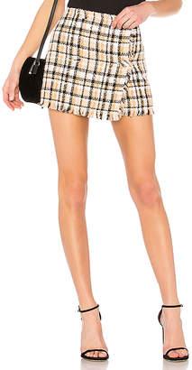 MSGM Plaid Wrap Skirt