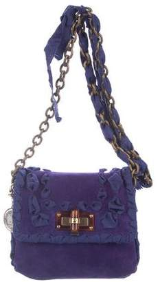 Lanvin Mini Happy Suede Crossbody Bag