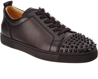 a131fa299bc9 Christian Louboutin Louis Junior Spikes Leather Sneaker