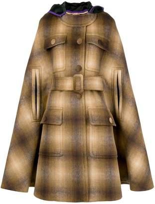 No.21 hooded cape coat