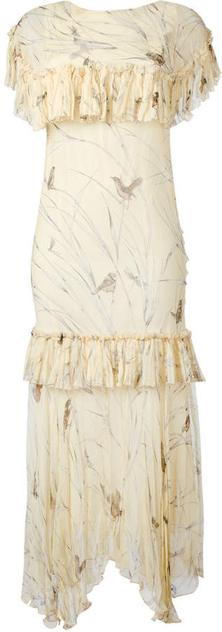 Marni ruffle printed dress