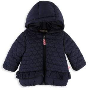 Billieblush Baby Girl's& Little Girl's Heart Quilted Hooded Puffer Jacket