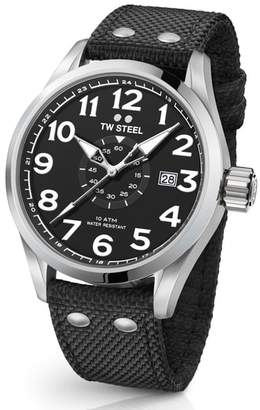 TW Steel Volante Textile Strap Watch, 45mm
