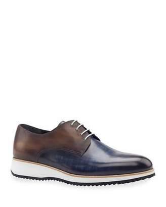 Ike Behar Men's Modus Two-Tone Patina Leather Derby Sneakers