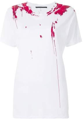 Haider Ackermann paint splattered print T-shirt
