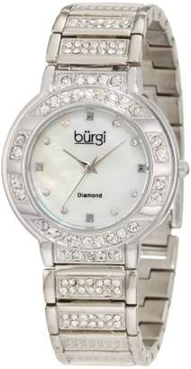 Burgi Women's BUR067SS Mother-Of-Pearl Diamond Quartz Watch