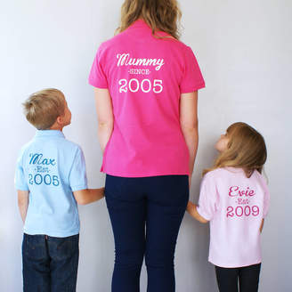 3c4fece83 Sparks And Daughters Personalised Mummy And Me Polo Shirt Set