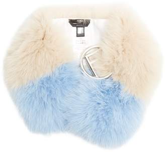 Fendi F-buckle fur scarf