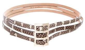 Valentino Python Waist Belt