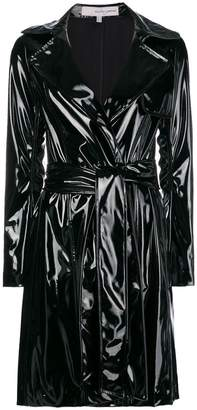 Galvan gloss belted trench coat