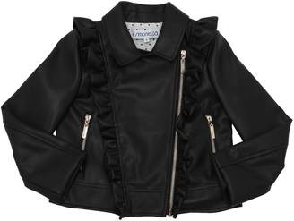 Simonetta Faux Leather Biker Jacket