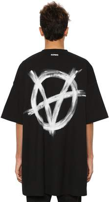 Vetements OVERSIZE PRINTED COTTON JERSEY T-SHIRT