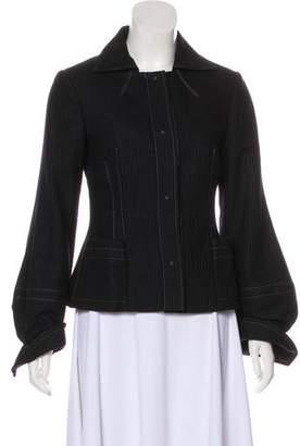 Philosophy di Alberta Ferretti Virgin Wool Pinstripe Jacket