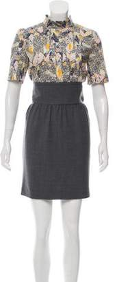 Cacharel Short Sleeve Mini Dress w/ Tags